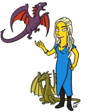Персонажи «Игры престолов» как Симпсоны