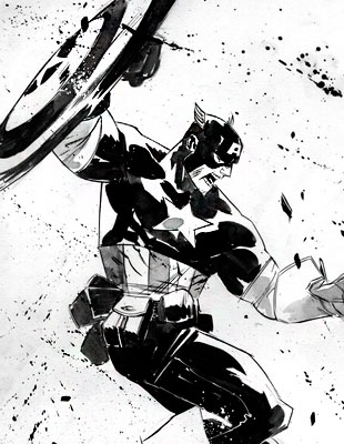 Супергерои в черно-белых эскизах