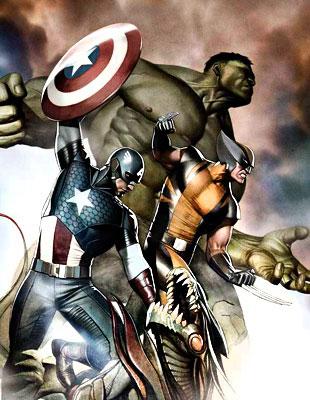 Концепт-арт от художника Marvel Comics