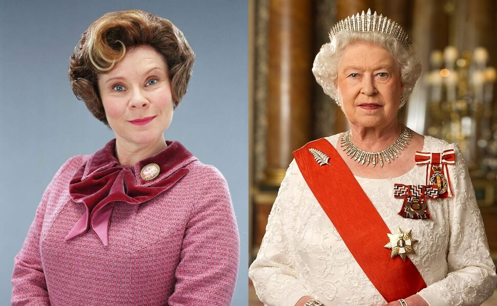 Имелда Стонтон и королева Елизавета II